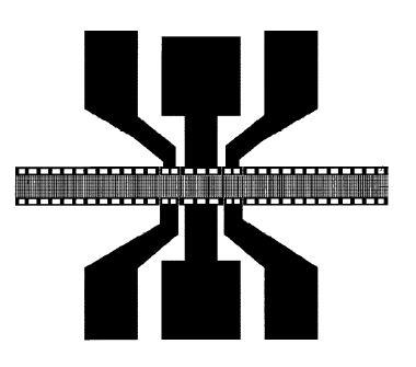 Типовая топология одного звена ПАВ-фильтра волноводного типа.